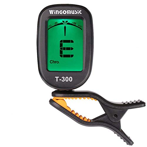 WINGO Guitar Tuner T-300 Clip on-Accurate Chromatic,Acoustic Guitar Bass Violin Ukulele Tuner -Battery Included.