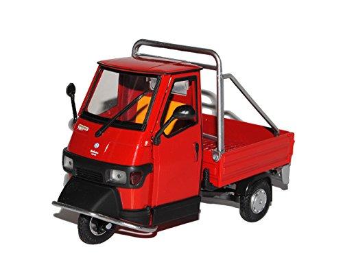 New Ray Vespa Piaggio Ape Rot Transporter Pritsche 1/18 Modell Motorrad Modell Auto