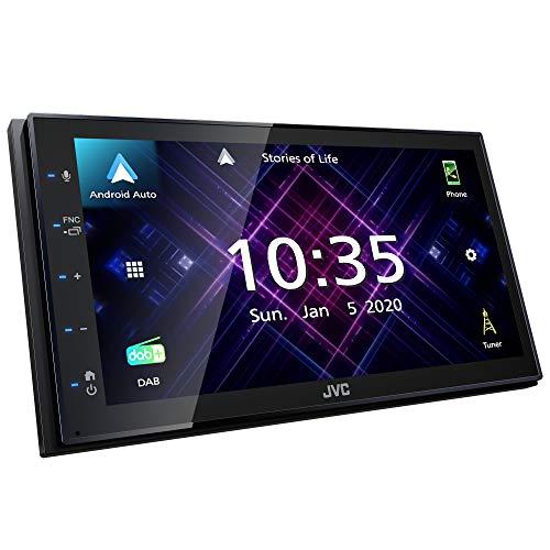 JVC KW-M565DBT - Moniceiver ohne Laufwerk, 17,3 cm kapazitiver Touchscreen, DAB+/UKW, Android Auto, USB Mirroring für Android, Bluetooth Freisprecheinrichtung, Soundprozessor, 4 x 50 W, schwarz