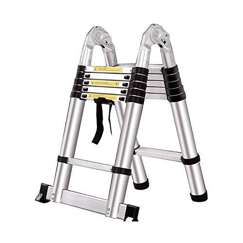 JIACTOP Escaleras de Aluminio telescópica Escalera telescópica Tipo-A Multi Propósito Extensión Escalera Plegable (Size : 2.8+2.8=5.6M(18.3ft))