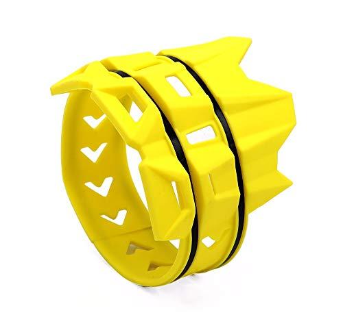Silenciador de tubo de escape universal MX Dirt Pit Bike – Protección para moto CRF Motocross, color amarillo