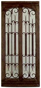 Traditional Authentic Mexican Oak Door 7 with Hinges, Handle and Jamb