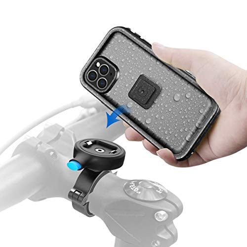 Cozycase Soporte Movil Bici para iPhone 11 Pro MAX (6,5') con Funda estanca, Teléfono Aluminio Manillar de Bicicleta de Montaje