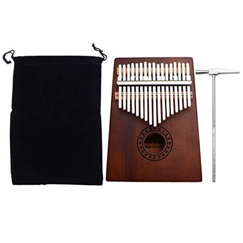 ULTNICE Kalimba Daumenklavier 17 Schlüssel Daumen mit Stimmhammer Klaviertasche Holz Tragbar Finger Piano für Geburtsgeschenk Anfänger (Schneeflocken Muster)