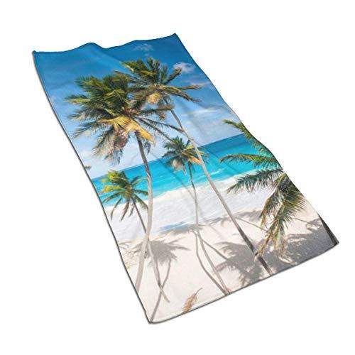 URMOER Vacation Beach Summer Tropical Sea Palms Paradise Ocean (10) Muy Absorbente Toalla de Mano 40x70cm Ultra Absorbente Viaje Deporte Toallas