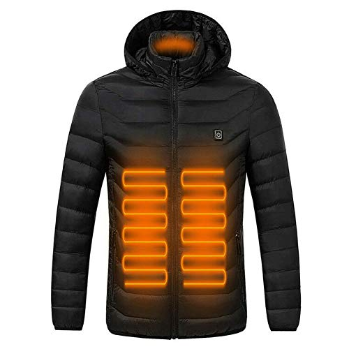 ANTARCTICA Upgraded USB Electric Heated Lightweight Rechargeable Heating Waistcoat Down Jacket Coat (Power Bank NOT Included) Black