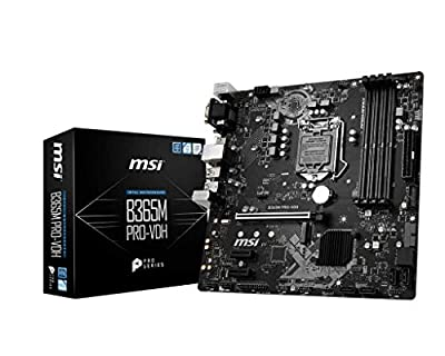 MSI ProSeries Intel B365 LGA 1151 Support 9th/8th Gen Intel Processors Gigabit LAN DDR4 USB/DVI-D/VGA/HDMI Micro ATX Motherboard (B365M PRO-VDH)
