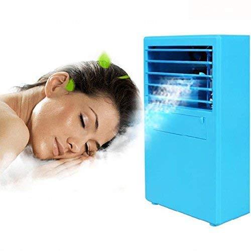 AC-Cooling Refroidissement Unités Ventilateur de climatiseur individuel, ventilateur de bureau de 9,5 pouces, table de bureau avec brumisateur, ventilateur, humidificateur sans lame, silencieux de bur