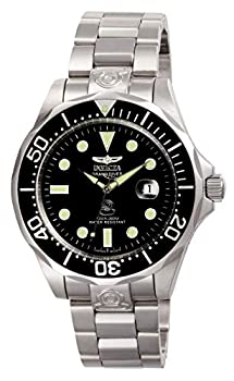 Invicta Mens Pro Diver Stainless Steel Automatic Watch Silver/Black  Model  3044
