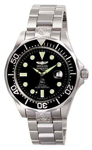 Invicta Men's Pro Diver Stainless Steel Automatic Watch, Silver/Black (Model: 3044)