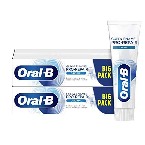 Oral-B Encías & Esmalte Pro-Repair Original Pasta de Dientes, Pack de 4, enviado en un cartón reciclado, Protección Encías y Dientes Sensibles (4x100 ml)