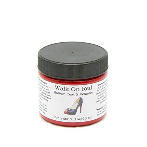 Angelus Farbe Lederfarbe für die Schuhsohle Ledersohle Walk on red or Black Laufe auf schwarz oder rot 59 ml (Rot)