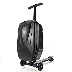 Orange Luggage Scooter 20/'/' Scooter Suitcase for Airport Travel Business School