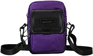 TOOGOO Women Canvas Bag Hong Style Harajuku Style Contrast Color Small Bag Fashionable Casual Messenger Shoulder Bags Purple