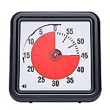 TANWERN Basics Mechanischer und magnetischer Timer. Einstellbar von 1 bis 60 Minuten. Alarmton bei Erreichen der gewünschten Zeit. Zweifarbiges Zifferblatt Ideal für die Küche