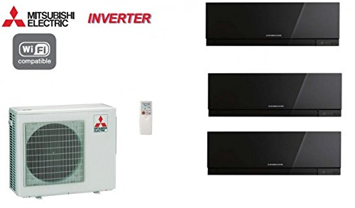 Split Klimageräte Mitsubishi Inverter 3-split Design MXZ 3D68VA + 2 x MSZ-EF22VE2B + 1 x MSZ-EF35VE2B