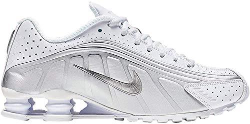 Nike Shox R4, Zapatillas de Atletismo para Hombre, Multicolor (White/Metallic Silver/Metallic Silver 131), 44.5 EU