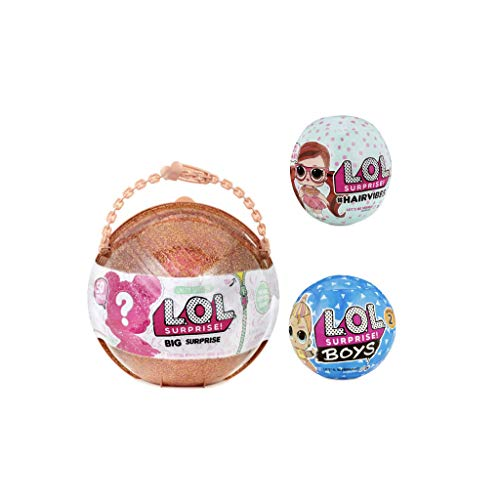 Best Prices! LOL Surprises Bigger Surprise Gold Ball, Series 2 Boys Doll, and 1 Hairvibes Doll