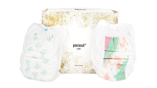 Parasol Natural Baby Diaper Pants - Chlorine Free, Chemical Free, Hypoallergenic, Eco-friendly - Desert Spring Collection - Size 4-5, 4 Packs of 24, 96 Count