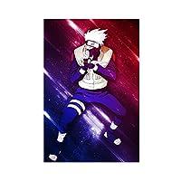 NARUTO-ナルト-漫画のキャラクターはたけカカシポスター壁の装飾44キャンバスポスター壁アートの装飾リビングルームの寝室の装飾のための絵画絵画アンフレーム:24×36インチ(60×90cm)