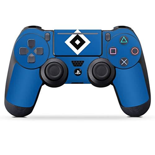 DeinDesign Skin kompatibel mit Sony Playstation 4 PS4 Pro Controller Folie Sticker Hamburger SV Logo HSV