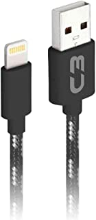 Cabo USB-Lightning C3Plus CB-L11GBK 1M Preto e Branco - Compatível com IOS USB-Lightning Corrente 2A