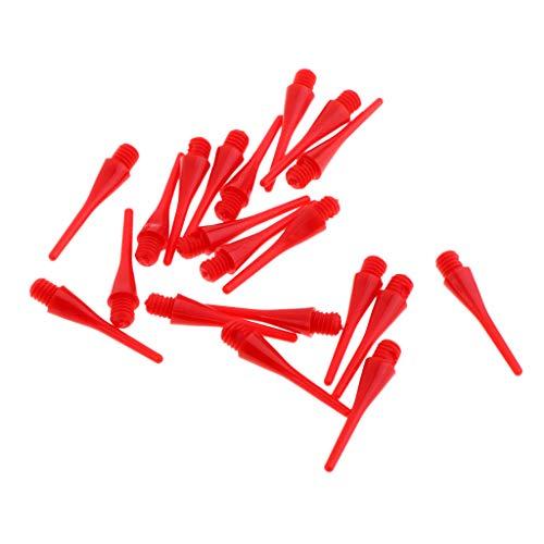 Baoblaze 20er Set Kunststoff Dartspitzen Soft Spitzen Dartpfeile für Elektronisches Dart - 22mm Rot