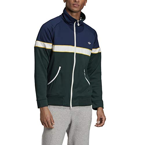 adidas Track Jacket Zip Felpa Verde da Uomo FM2195