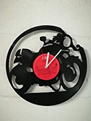 WALL CLOCK VINYL MUFFLER WITH MOTORCYCLE MOTO UPCYCLING DESIGN WATCH WALL DECOR VINTAGE WATCH WALL DECORATION RETRO WATCH MADE IN GERMANY - CAFE RACER #2