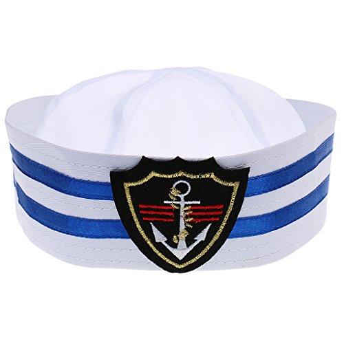 Generic Chapeau Marin Casquette Marine Rayé Enfants Capitaine de Bateau - Taille Unique - Losange, L