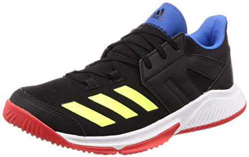 adidas Essence, Zapatillas de Balonmano para Hombre, Multicolor (Core Black/Hi/Res Yellow/Active Red), 45 1/3 EU