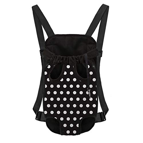UZZUHI Polka Dot Pet Carrier Backpack for X-Large Dogs Cats Puppies, Adjustable Pet Front Cat Dog Carrier Backpack Travel Bag Legs Out for Traveling Hiking Camping