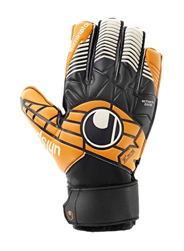 uhlsport Erwachsene Eliminator Soft Advanced Torwarthandschuh, schwarz/Orange/Weiß, 9