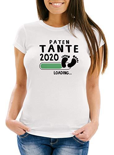 MoonWorks – Camiseta para mujer, diseño con texto Mama Oma Tante 2020, ideal como regalo para futuras mamá, abuelo, nacimiento, bebé Modelo 2020, color blanco y negro. S