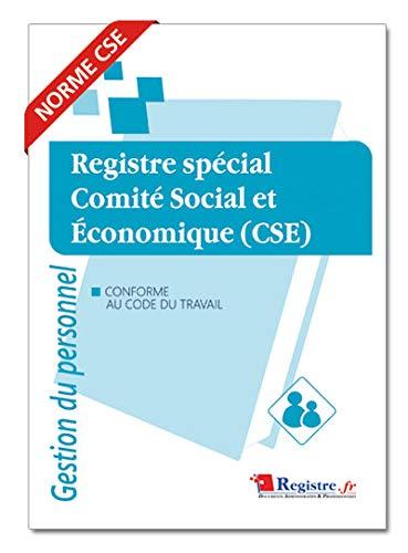 Registre spécial comité social et économique CSE - M010