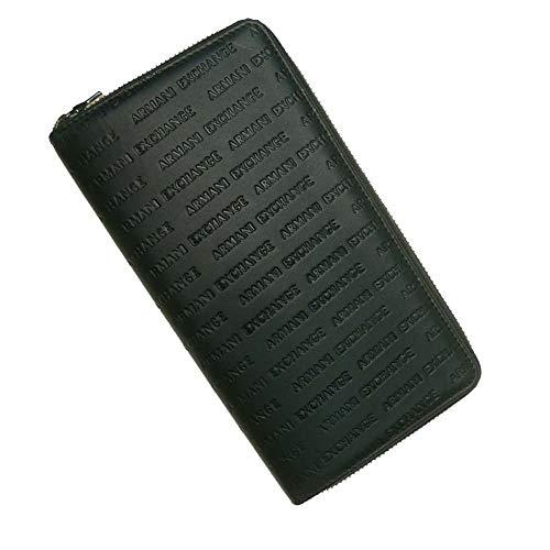ARMANIEXCHANGE『ラウンドジップレザー長財布(958055-CC349)』