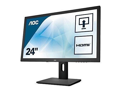 AOC I2475PXJ Monitor, 60,5 cm (23,8 inch), (VGA, DVI, HDMI, 1920 x 1080, 5 ms reactietijd, Pivot), zwart