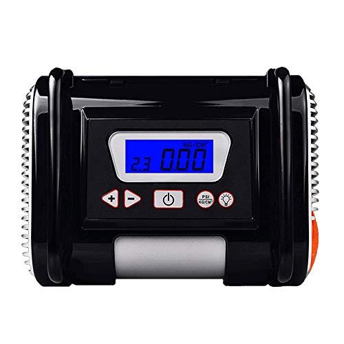 PULLEY-C Inflador de neumáticos, Bomba de compresor de aire, Bomba de neumático auto portátil de 12V DC con pantalla digital C