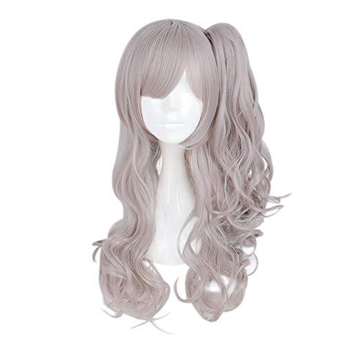 Sintética rizada larga Gradiente preciosa rosada niña cosplay peluca de pelo del anime del pelo (Color : A)