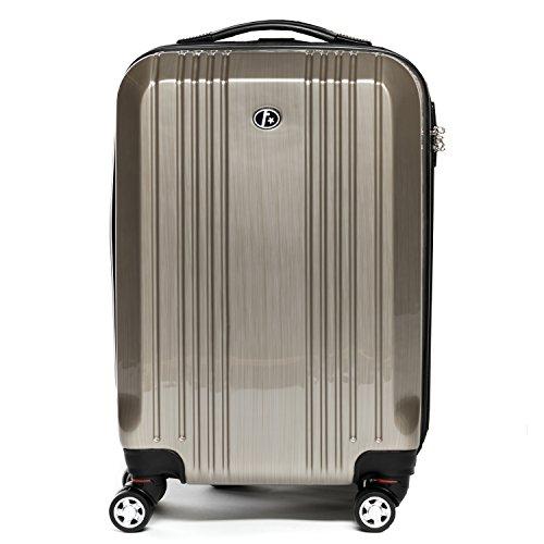 FERGÉ Set di tre valigie CANNES - bagaglio rigide duro da 3 - tre pz. valigie con 4 ruote (360) - ABS & PC beige