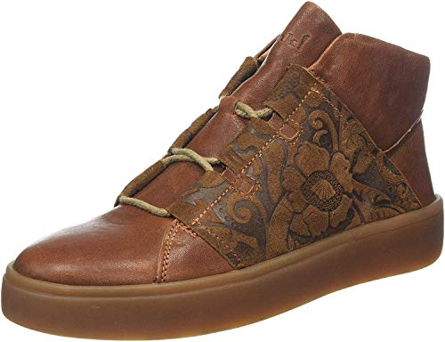 Think! Damen GRING_585206 Hohe Sneaker, Braun (Cognac/Kombi 56), 39 EU