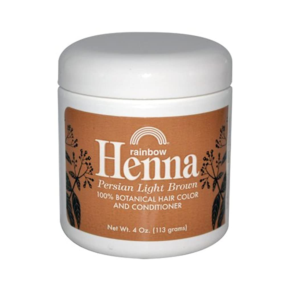 新しい意味抽選過去Rainbow Research Henna Persian Light Brown Hair Color and Conditioner Organic 113 g (並行輸入品)