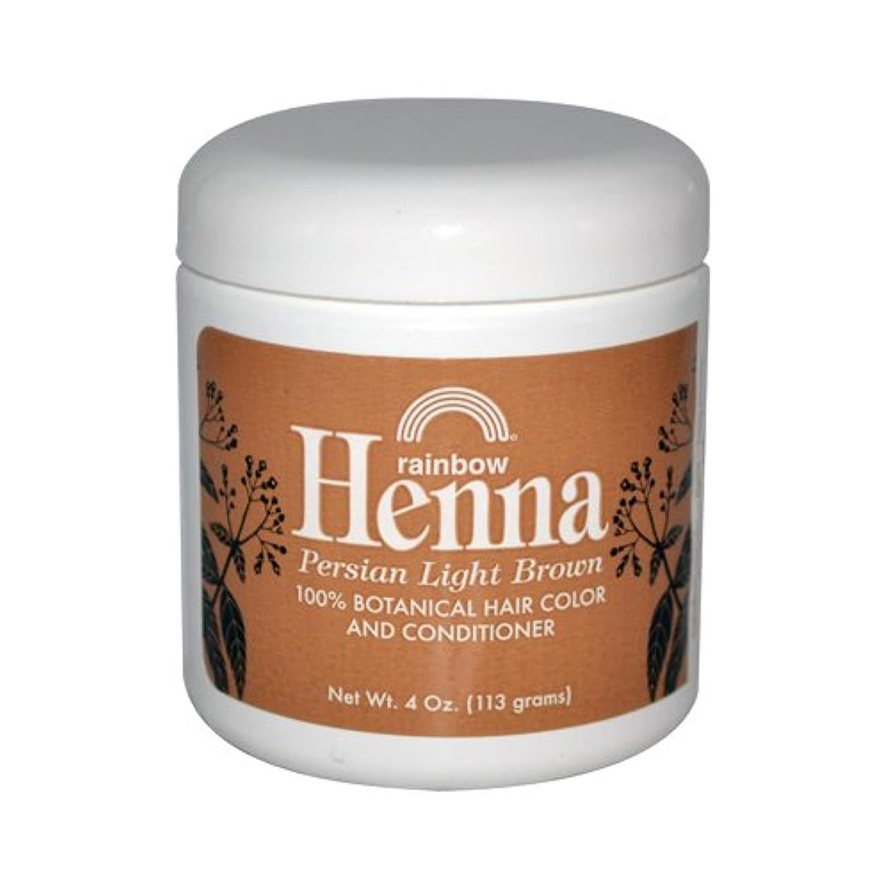 尊厳評価可能偽善Rainbow Research Henna Persian Light Brown Hair Color and Conditioner Organic 113 g (並行輸入品)