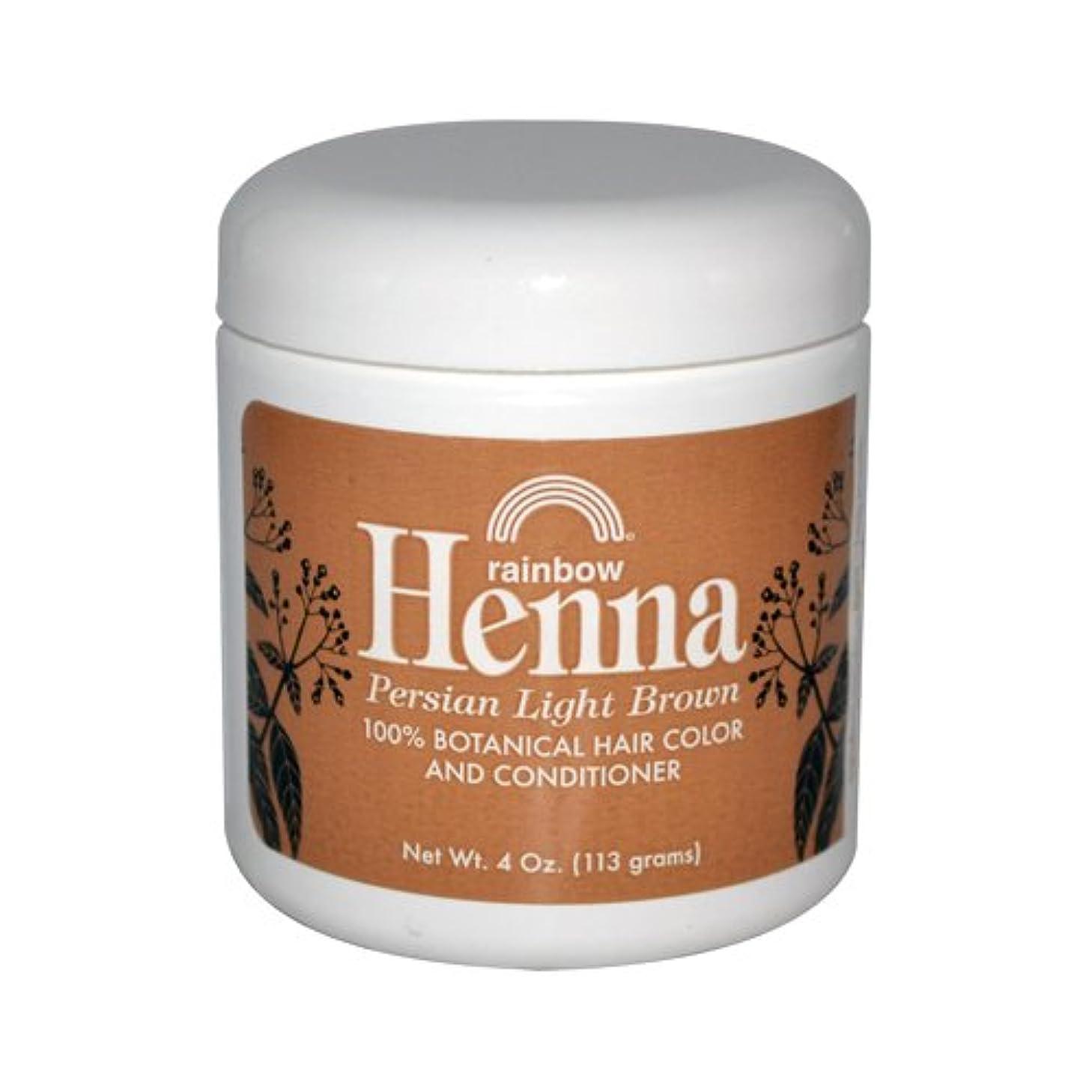 会社お金傘Rainbow Research Henna Persian Light Brown Hair Color and Conditioner Organic 113 g (並行輸入品)