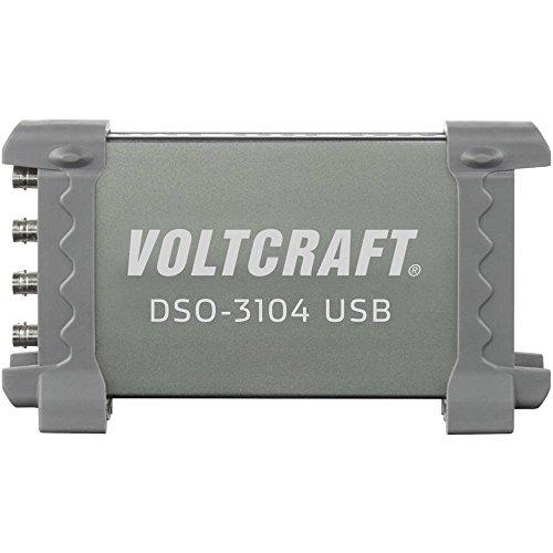 VOLTCRAFT DSO-3104 USB-Oszilloskop 100 MHz 4-Kanal 250 MSa/s 16 kpts 8 Bit Digital-Speicher (DSO), Spectrum-Analyser