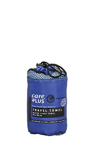 Care Plus® - Microfaser Reisehandtuch klein - Reisehandtuch in Blau - Mikrofaser Handtuch - Outdoor Handtuch - Schnelltrocknendes Handtuch - 40x80cm