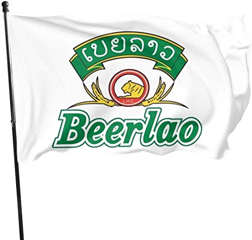 Emonye Garden Flag Patry Flag Outdoor Flag, Beerlao Flag 3x5 Ft