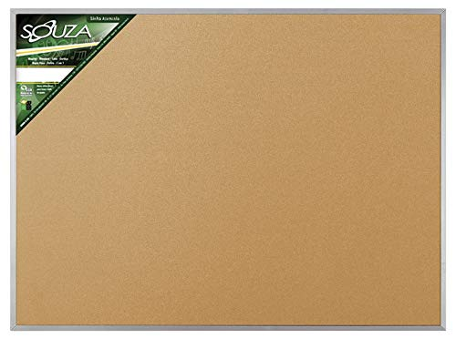 Quadro de Cortiça Standard 120x90 cm Moldura de Alumínio Pop R 5706 - Souza