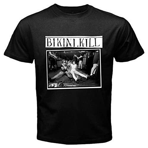 Bikini Kill Men's Black T-Shirt Black XXL