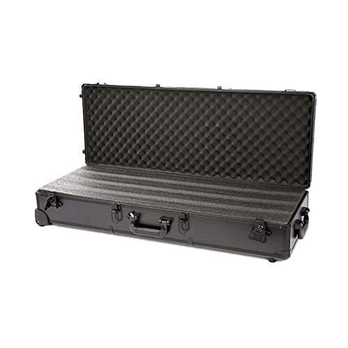 YANGQI Waffenkoffer Hard Case Tragbarer Wasserdichter Aluminium-Gewehrkoffer, Gewehrkoffer, Trockenbox mit EPA und Rädern, Leicht zu Tragen